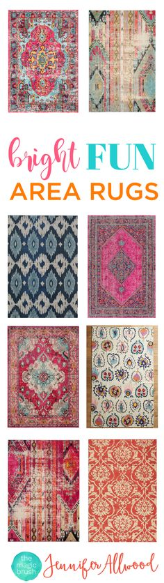 Bright Fun Area Rugs to add some color to your living spaces   Decorating Advice from Jennifer Allwood of the MagicBrush