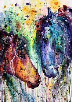 Colourful Horses Portrait - Animals Paint By Numbers animals background iphone wallpaper iphone animal drawings Watercolor Horse, Watercolor Paintings, Diy Painting, Knife Painting, Painting Canvas, Canvas Prints, Horse Drawings, Animal Drawings, Drawing Animals