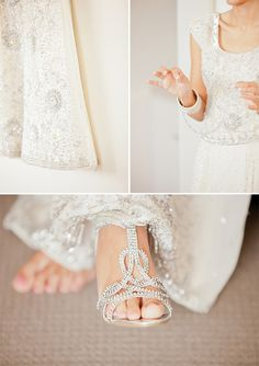 These pretty shoes (from Debenhams) are such a perfect match for the gorgeous sparkly details in this bride's dress Bride Gowns, Bridal Dresses, Bridal Photography, Photography Ideas, Beautiful Bride, Beautiful Dresses, Perfect Wedding, Dream Wedding, Wedding Ideias