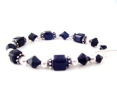 Jet Black Crystal Bracelet Swaroski Jet Black Crystal Bracelet Holiday Jewelry. $34.99, via Etsy.