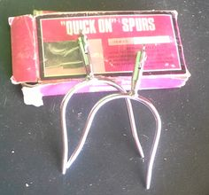 """NEW (box in rough shape) """"Quick On"""" spurs $5"""