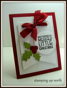 Stitched Party Banners -- stamping up north: Merry Little Christmas