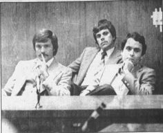 "tedbundy: """"Ted Bundy, his lawyer Lynn Thompson, and defense investigator Don Kennedy, listen to the verdict in the Lake City case, February "" "" Hatfields And Mccoys, Evil Person, Ted Bundy, Coincidences, Look Alike, Serial Killers, True Crime, Rare Photos, Documentaries"