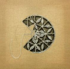cutwork embroidery is amazing but it scares me. Hardanger Embroidery, Embroidery Applique, Beaded Embroidery, Cross Stitch Embroidery, Embroidery Patterns, Machine Embroidery, Paper Embroidery, Doily Patterns, Cross Stitches