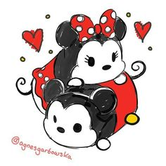 Disney Love, Disney Art, Walt Disney, Easy Disney Drawings, Kawaii Drawings, Mickey Mouse And Friends, Mickey Minnie Mouse, Disney Doodles, Disney Princess Cartoons