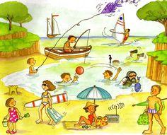 En el mar, la vida es más sabrosa. En el mar, te quiero mucho más. Con el sol, la luna y las estrellas. En el mar, todo es felicidad.