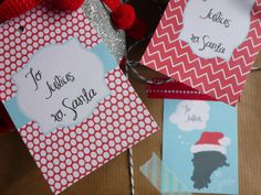 Gift Tags  Printable Personalized Christmas by LittleAndTheGirl, $3.00