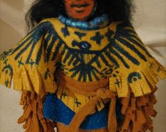 Native American Corn Husk doll, Thunder Bird woman