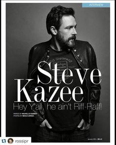 Steve Kazee for Bello Magazine. Men's Grooming by Mara Capozzi