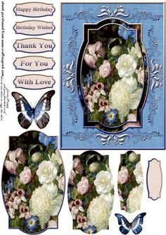 Cardtopper sweet sweet roses 298 on Craftsuprint - View Now!