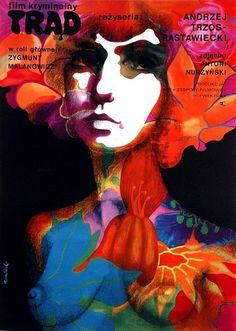 Leprosy (Andrzej Trzos-Rastawiecki, Polish design by Tomasz Ruminski Polish Movie Posters, Film Posters, Ballet Posters, Graphic Design Posters, Art Design, Vintage Advertisements, Love Art, Poland, Illustrations