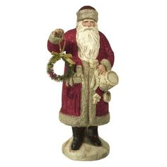 Grasslands Road - Christmas - Santa Figure with Wreath - 464129 in Collectibles, Holiday & Seasonal, Christmas: Current (1991-Now) | eBay