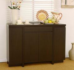 $399 - Amazon.com - Furniture of America Milo Buffet with 4-Cabinets, Cappuccino - Sideboards Buffets Credenzas