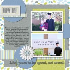 Graduation Day Reflections Digital Scrapbooking Layout from Creative Memories