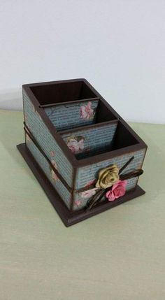 Painting Words, Fabric Painting, Shabby Chic Kitchen Accessories, Remote Holder, Decoupage Box, Gisele, Diy And Crafts, Decorative Boxes, Scrap