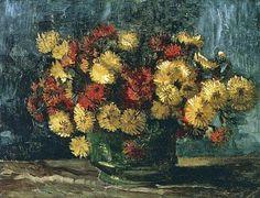 Vincent van Gogh Bowl with Chrysanthemums 1886