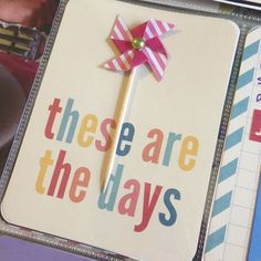 Mrs Crafty Adams | Project Life 2013 - Week 27 - kraft card and pinwheel