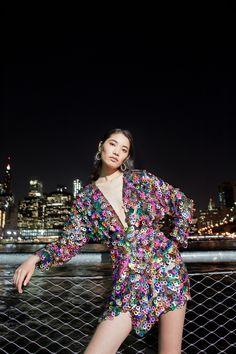 M'O Exclusive Paillette Mini Wrap Dress by Markarian Sequin Gown, High Fashion, Womens Fashion, Parisian, Wrap Dress, Pride, Women Wear, Dressing, Spring Summer