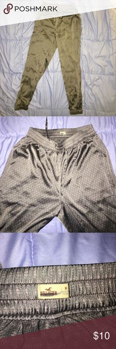 Gray patterned silky joggers Aeropostale gray patterned poly silky joggers Aeropostale Pants Track Pants & Joggers