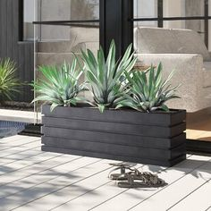 stunning small backyard landscaping tips to make it 1 Metal Wall Planters, Resin Planters, Corten Steel Planters, Outdoor Planters, Modern Planters, Black Planters, Planters Around Pool, Front Yard Planters, Front Yard Walkway
