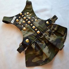 Dog Harness Travelin Soldier Dog Harness Dress por FooFooFido