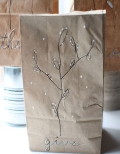 doodled gift bag tutorial