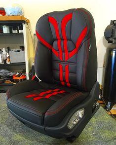 porsche cayenne custom leather seats black red silver