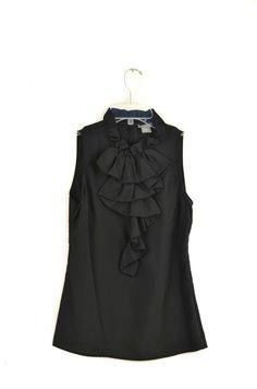 Anne Taylor Black Ruffle Blouse Size XSP | ClosetDash #annetaylor #blouse #fashion #style