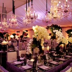 Wedding Receptions to Die For (image via Mindy Weiss)...i would love these colors for my wedding