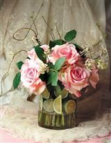 GARDEN ROSES IN LIME INFUSION