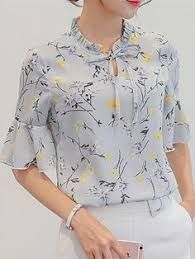 Harajuku New Women Summer Blouses Fashion Foral Print Shirt Leisure Plus Size Ruffles Sleeve Slim Bodycon Chiffon Blouse Tops Casual Tops For Women, Blouses For Women, Women's Blouses, Blouses 2017, Chiffon Shirt, Chiffon Tops, Ruffle Blouse, Summer Blouses, Summer Tops