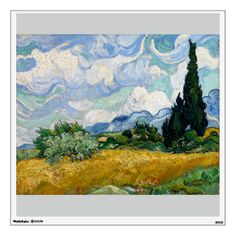 Wheat Field with Cypresses by Vincent Van Gogh Wall Graphics