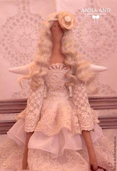 Куклы Тильды ручной работы. Ярмарка Мастеров - ручная работа 70 см! Нежный ангел, несущий любовь!. Handmade.