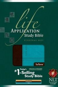 NLT Life Application Study Personal Size Bible - TuTone Brown/Turquoise $59.99 http://www.celebrateyourfaith.com/NLT-Life-Application-Study-Per-P14415C155.cfm