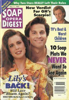 Soap Opera Digest | Martha Byrne, Jon Hensley, As the World Turns, General Hospital