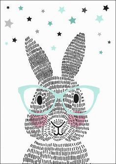 Art Room Britt: Rabbit Illustration Using Line Rabbit Illustration, Illustration Art, Lapin Art, Illustration Mignonne, Bunny Art, Art Education, Illustrators, Art For Kids, Art Projects