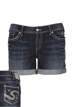 silver jeans co.   Aiko Destructed plus size shorts (original ...
