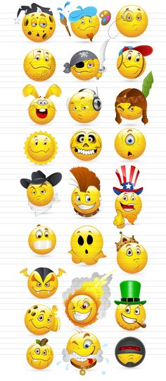 Smileys και Emoticons Vector Graphics