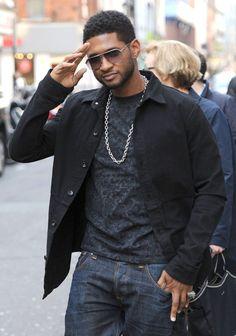 Usher Walks The London Streets