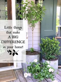 Little things that make a big difference in your home and garden #diy