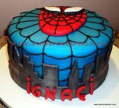 Atelier de Tartas: Tarta Fondant Cumpleaños Spiderman
