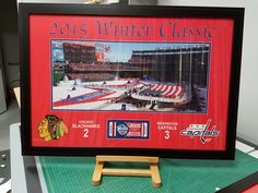 Framed Capitals Winter Classic art from 2015 FastFrame of Annapolis