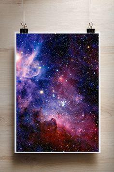 Colorful Art Print Nebula deep space universe by Sky Painting, Galaxy Painting, Galaxy Art, Cosmos, Canvas Poster, Canvas Art, Cs Lewis, Nikola Tesla, Deep Space