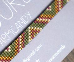 Handgemaakt weef armbandje met 24 karaats gold door YRSarmcandy