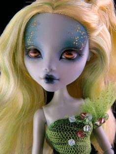 Lily Lagoona custom Monster High doll by Engelmech on Etsy