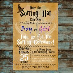 Harry Potter Gender Reveal Printable by SillyLoveSongCustoms