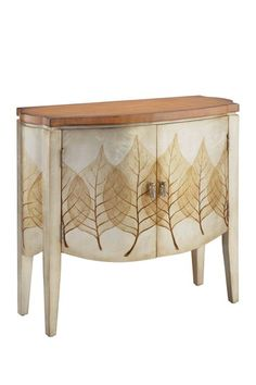 Urban Glam  La Feuille Hand-Painted Cabinet