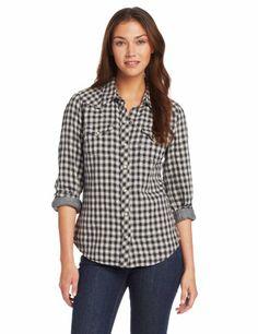 Lucky Brand Women's Dixie Gingham Western Shirt