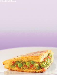 Potato Handvo ( Non- Fried Snacks ) recipe | Indian Non Fried Recipes, Farsan Recipes | by Tarla Dalal | Tarladalal.com | #33310