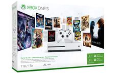Own the Xbox One S Starter Bundle and dive into the very best of Xbox One. Xbox One S console. Your pass to play and connect with the very best of Xbox One. of Xbox Live Gold. Xbox One S 1tb, Xbox 1, Playstation, Jeux Xbox One, Xbox One Games, Halo 3, Bioshock, Zulu, Console
